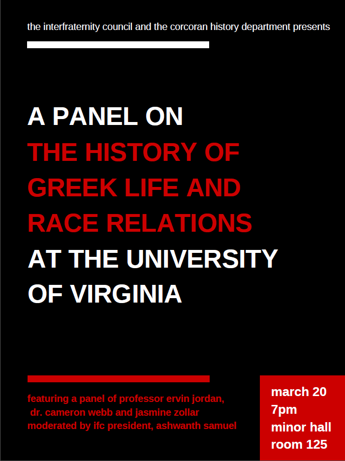 A Panel on the History of Greek Life and Race Relations at UVa