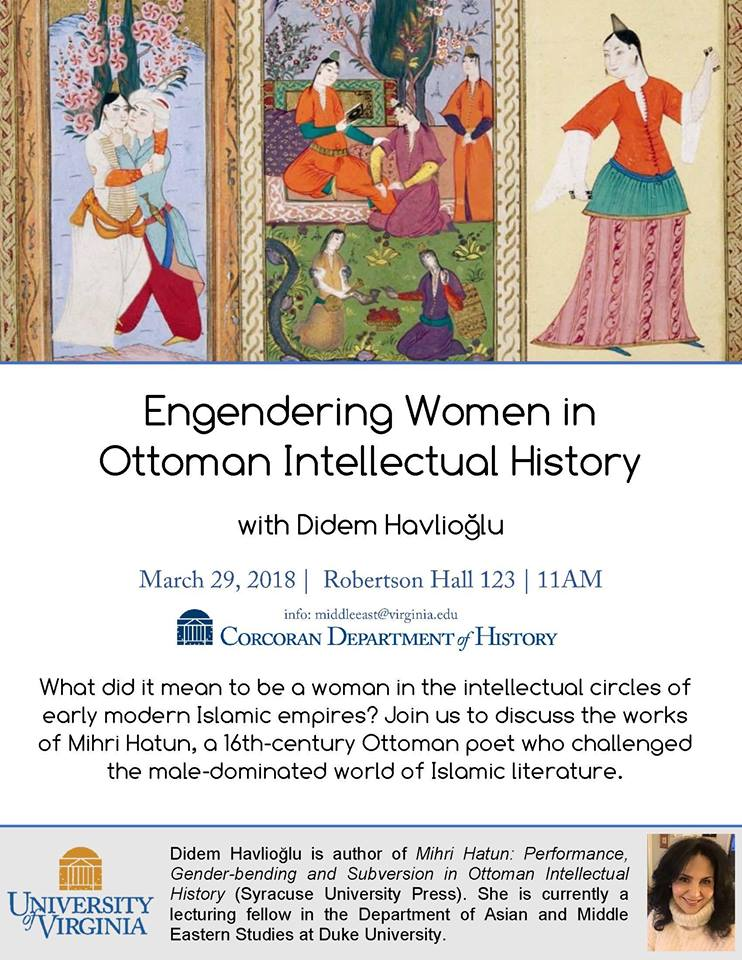 Didem Havlioğlu to Speak about Gender and Ottoman Poetry