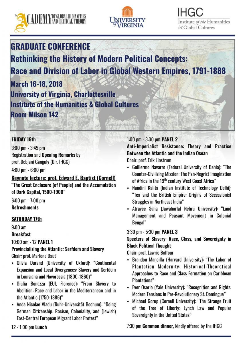 IHGC Graduate Conference on Race, Labor, and Empire