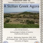 "AIA Lecture: Malcolm Bell III ""A Sicilian Greek Agora"""