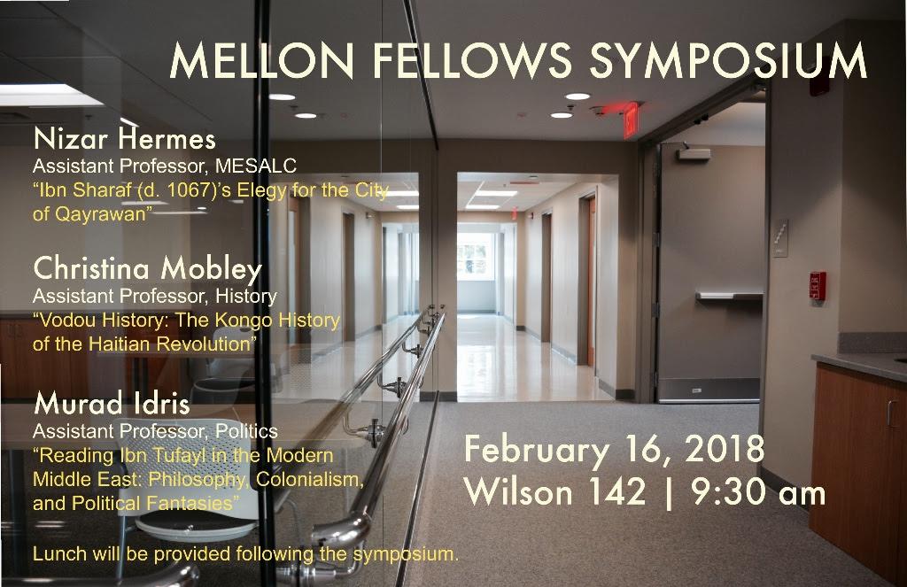 Christina Mobley at the 2018 Mellon Fellows Symposium